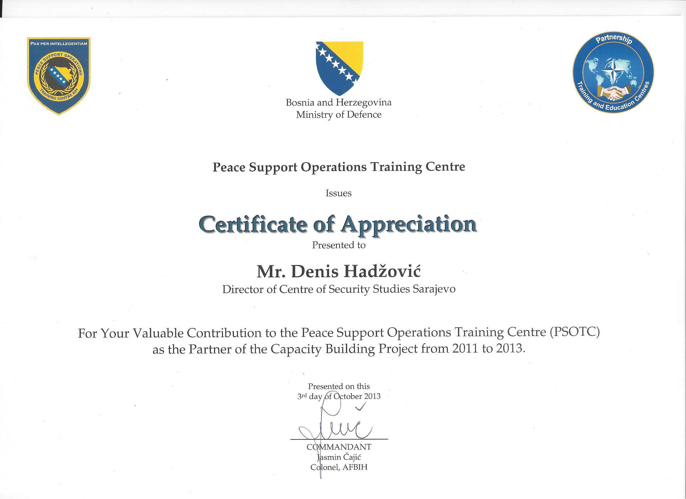 Peace Suport Operations Training Centre